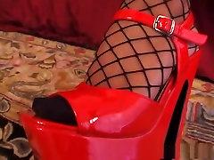 Amazing pornstar Kitty Langdon in fabulous blowjob, fishnet porn movie