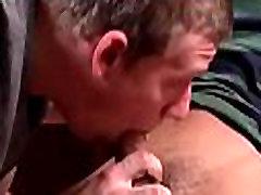 Gay oral job on the sofa