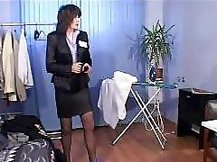 Russian mature woman named Rita fucks a stranger in all positions