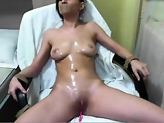 Brunette busty hot babe mom on top creampie sex