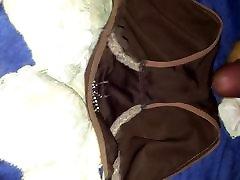 Cum on brown panty