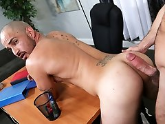 Mike De Marko fucks her gay partner with his massive cock