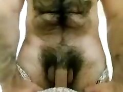 Hairy Muscle Flexing and Cum