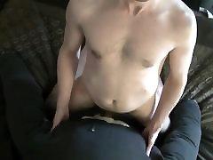 Homemade pillow doll fuck cum inside