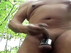 Jerking in the woods with ballstretcher.