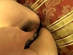 Fingered Asian MILF in thong