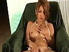 Lovely tits asian charms with blow job