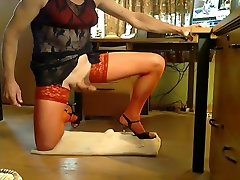 Exotic homemade shemale video with Mature, Stockings scenes