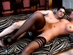 Exotic pornstar in horny facial, lingerie xxx scene