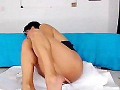 Hot brunette girl fingering her pussy with ohmibod in all holes on webcam pornchaos.net