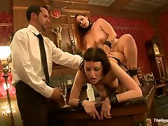 Cherry Torn & Bella Rossi in House Slaves Are Tested In Fucking, Sucking And Taking Pain - TheUpperFloor