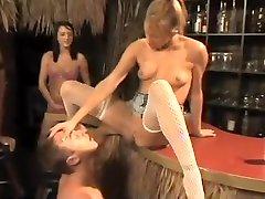 Horny pornstars Rane Revere, Deena Daniels and Desire Moore in hottest blonde, black and ebony porn video