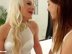 Fingering bliss by Sapphic Erotica Taylor Sands and Anastasia Blond lesbians