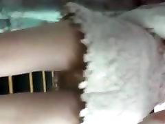 Escalator upskirt pink panty