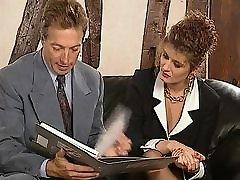 Vintage business women fucked in black stockings