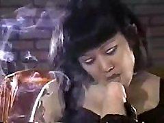Colight Smoking Fetish Amiko&039s Toybox Giant Strapon Smoking Sexy Asian Mistress