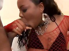 Best pornstar in amazing creampie, black and ebony porn clip