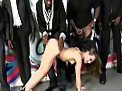 Hardcore Sex Gangbang With Ten Black Men And White Horny Slut 16