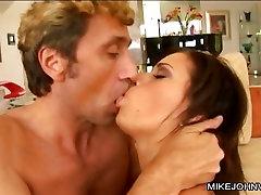 Mia Bang suck and tit fuck a hard on cock