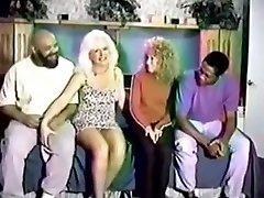 Horny homemade Retro, Mature two hot girls fucking video scene