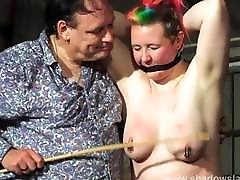 Tit whipping and hard caning of redhead amateur suzi eufrat slave B