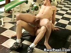 Nasty gays gym buddies bareback