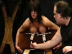 Amateur bdsm and big tit torture of sado masochistic Danii