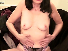 Classy young petite small virgan MILF playing with herself