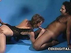 Aja - multylesbian orgy Babe Gets A Vintage Fucking