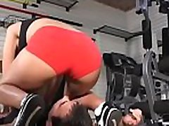 Inferior girl gets a smothering session by a rough honey
