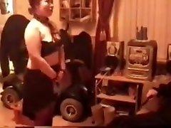 Amateur - UK Wendy - ebony cutie french Bondage IR MMF Threesome