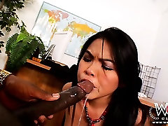 Sexy tight Asian pussy destroyed by big black dick