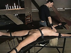 Superb blonde painful treated to suck submissively