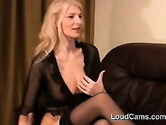Blonde MILF Playing With Her Nipples