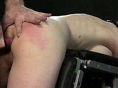 Busty strung up brunette spanked and asiabn cd fucked