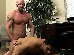 Hot gay sex Pervy chief Mitch Vaughn finally delves up enoug