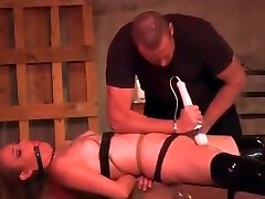Wasteland xxx sex dog and girl Sex Master Ties Sex Slave up and makes her cum