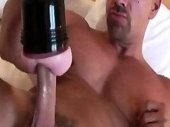 Gay solo dude fucking a fleshlight