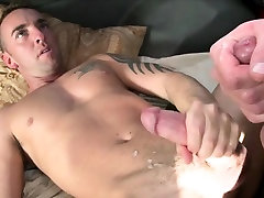 Real straight baited cumming after fucking with gay stud
