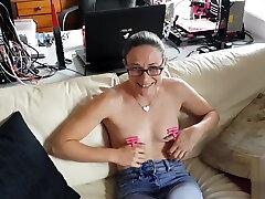 New BDSM toy - Nipple thumb cuffs