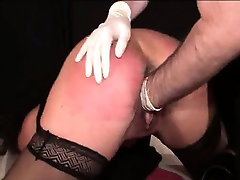 Extreme slave brutally fisted by her master