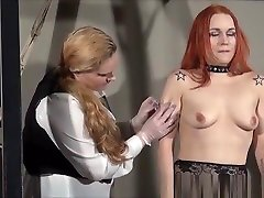 YouPorn - redhead-play-piercing-slave-marys-lesbian-bdsm-and-needle-punishment-of-amateur-masochist-in-harsh-dungeon-slavery