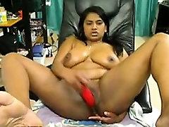 Busty curvy BBW Indian babe masturbates