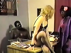 Retro Interracial Office FFM