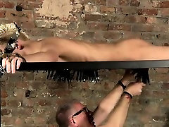 Gay jocks Master Kane has a new toy, a metal sofa framework