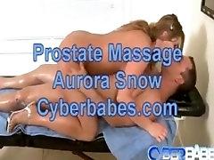 Cyberbabes Aurora Snow prostate massage