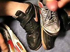 play and cum into grls nike air max mom like son penis while wearing