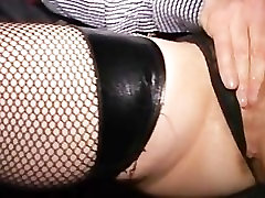 Finger fucked cougar squirts in crowded party