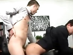 Gay manager ass fucks his employee in his office