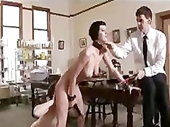 Lesbians toy and whipped in kitchen in the upper floor